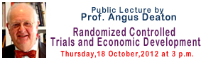 Angus Deaton Public Lecture
