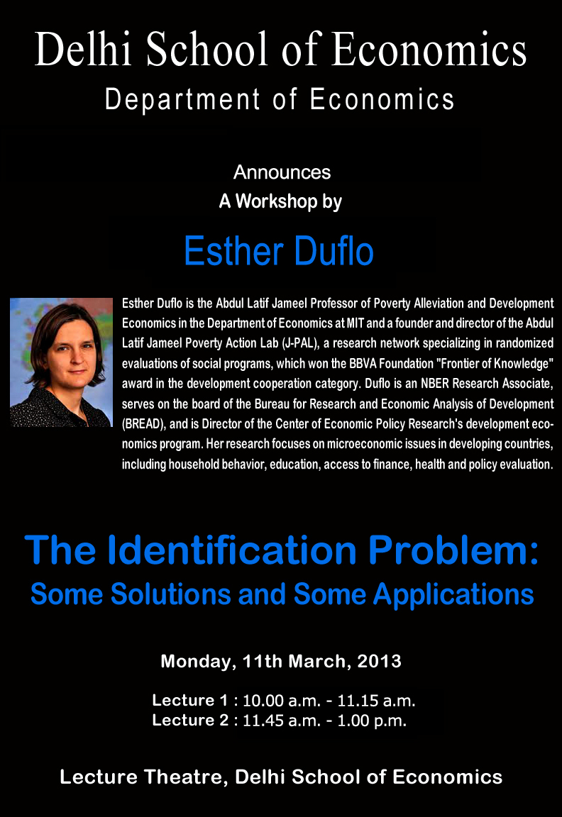 three essays in empirical development economics esther duflo