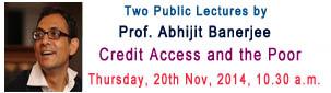 Public Lecture - Abhijit Banerji